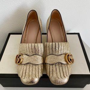 Gucci mid-heel leather pump